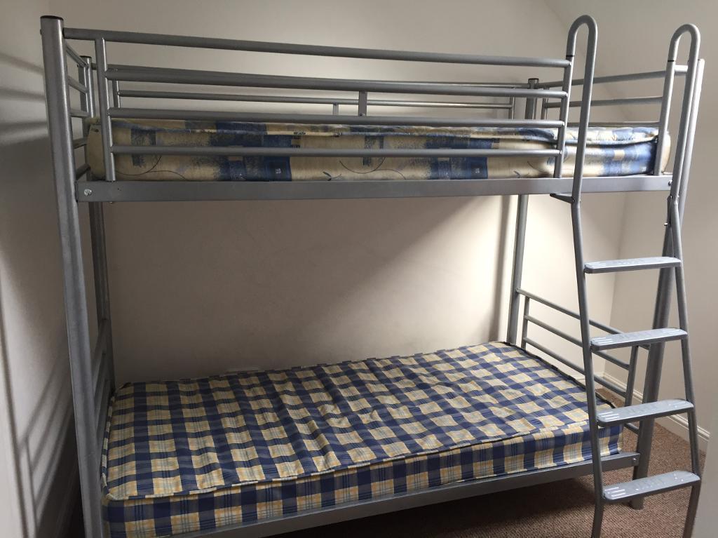 Metal frame bunk bed