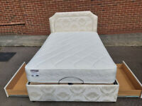 Double electric adjustable bed with 2 storage drawers and Sensaform mattress