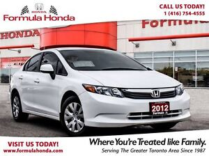 2012 Honda Civic LX - BLUETOOTH:  LOW RATES AVAILABLE.