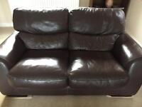 Leather sofa set 3 piece