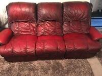 Leather reclining sofas excellent condition no rips