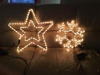 2 Christmas rope lights