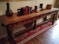 Antique potboard low dresser/table/sideboard circa 1840
