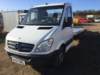 Mercedes sprinter 2008 57 recovery truck 16 ft alloy body new