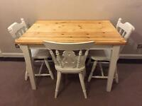 Beautiful farmhouse style table and chairs