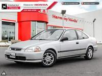 1998 Honda Civic DX - LOW MILEAGE - NO ACCIDENTS - 4 NEW TIRES -