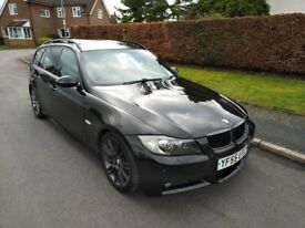 STUNNING BLACK BMW 330D M SPORT TOURING AUTO M57 LONG MOT FSH FULLY LOADED SPEC! PAN ROOF I DRIVE