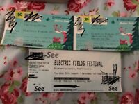 Electric Fields Thurs-Sun with Shower Ticket £145