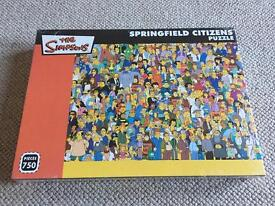 Puzzle The Simpsons Springfield Citizens brand new 750 pieces