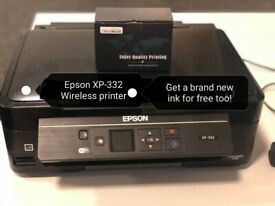 Epson XP-332 Printer & Scanner Wifi - free additional brand new ink
