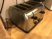 Russell Hobbs 4 piece Toaster and Kettle Brushed Silver