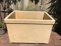 ❤️ A Huge 1950's Water Trough, Stoneware Ceramic Garden Planter, Japanese Fish Pond