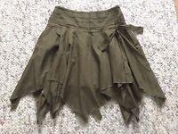 Peter Worth Woman Khaki Mini Skirt Uk Size 8, Paypal accept