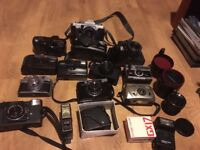 Selection of old cameras