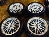 "18"" BBS STYLE ALLOY WHEELS FOR BMW 5 SERIES 3 SERIES 1 SERIES SET OF 4"