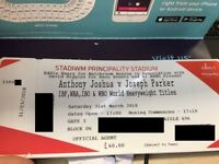 X4 Anthony Joshua Vs Parker Tickets – 31 Mar 2018