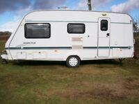 elddis ashington 4 berth 2002 end dressing room full awning excellent condition
