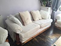 3 Piece for Sale Oak structure, very comfortable