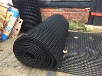 Grass rubber matting roll