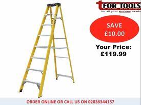 Jefferson Youngman 8 Tread Fibreglass Step Ladder JEFLADFGLS08