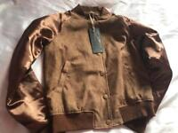 Brand new light brown jacket / size small