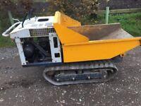 Yanmar Tracked Dumper Petrol Engine Tipper Mini Micro Digger Skip Loader