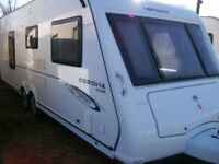 compass corona 2009 twin axle 4 berth fixed bed motot mover awning exc condition