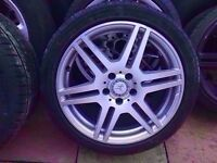 Mercedes Genuine Amg 18'' SINGLE Alloy FRONT 8J (1x wheel + Tyre) - CAN POST