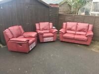 3 Piece Leather Suite ( Can Deliver )