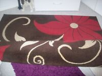 red brown and cream rug 160x 220