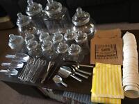 Jars, scoops, tongs, bags. Sweet shop kit