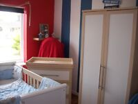 COMPLETE MAMAS & PAPAS MURANO NURSERY SET,WARDROBE,CHANGING UNIT,COT BED & CHOICE OF BEDDING SET