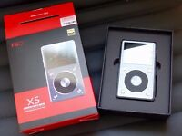 FiiO X5ii 2nd Generation Audio Player and DAC - Titanium With 2 X 128GB Micro SD Cards