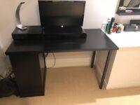 IKEA 'Klimpen' desk in black