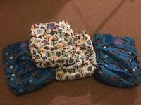 Bambino Mio one size all in one nappies (x4)