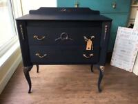 Painted wooden French style chest of drawers