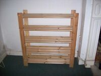 Pine shoe rack
