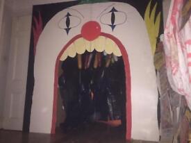 Creepy Clown Face Entrance