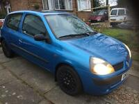 For sale Renault Clio 1.2 low mileage,new mot