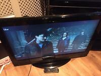 """37"""" acoustic solutions lcd tv free view HDMI scart ect"""