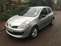 RENAULT CLIO NEW SHAPE 2008 1.2 EXTREME LONG MOT 1 OWNER SILVER BARGAIN