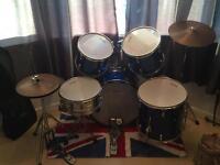 Gear 4 music, drum kit. Blue