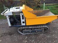 Yanmar tracked dumper machine plant petrol engine skip loader digger landscaping ground works