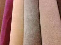 full range of carpets available in choice of colours from only £5 per square metre