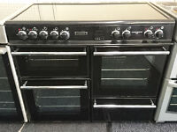 *45 black leisure 100cm two oven ceramic electric cooker comes with warranty can be delivered