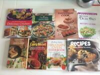 Cook books recipes selling as set, can send by courier service