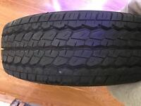 Bran new transit tyre forsale with rim bargain