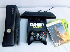 300gb Xbox 360 Super Elite + 12 Games + Kinect Sensor + Limited Edition COD MW2