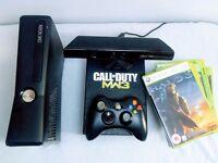 300gb Xbox 360 Super Elite + 12 Games + Kinect Sensor + Limited Edition COD MW2
