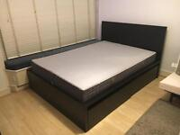 Standard double bed with firm mattress